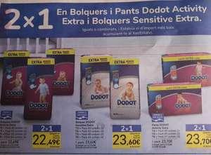 2x1 acumulado en chequeahorro en pañales dodot activity y sensitive extra en tienda