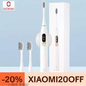 Cepillo eléctrico ultrasónico Oclean X con pantalla táctil a color, bluetooth, control por app + 4 cabezales