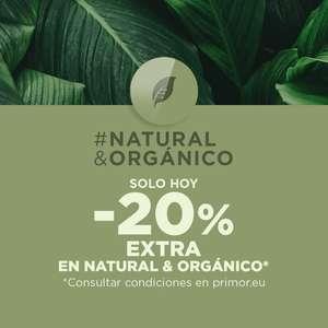 20% de descuento en la sección Natural&Orgánico en Primor