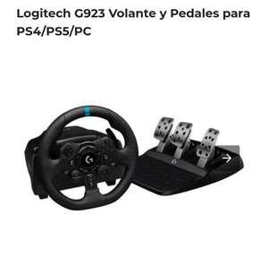 Logitech G923 Volante Y Pedales Para PS4 PS5 PC en PC Componentes, tambien en Fnac con 2.99 € gastos de envio