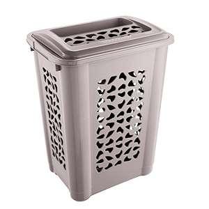 Keeeper cesto para ropa sucia con ranura y tapa abatible, circulación de aire, 60 litro