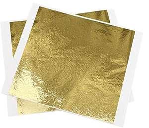 100 hojas de papel de aluminio de imitación de oro, para pintar, manualidades, uñas y decoración de bricolaje (9x9 cm)