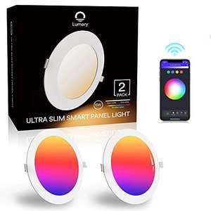Pack 2 Downlight Led Techo Inteligente Ultrafina 6W 480LM