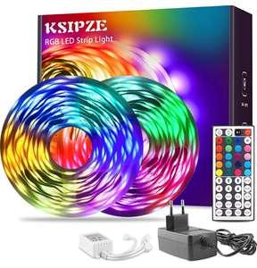 Tira LED 15 metros RGB cambia de color 5050 Luces LED flexible con control remoto