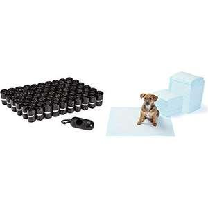 Bolsas para excrementos de Perro con dispensador y Clip para Correa (900 Bolsas) Toallitas de Entrenamiento para Mascotas (150 Unidades)