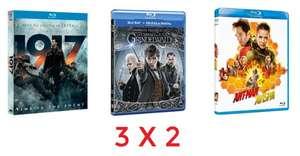 Pack 3x2 en seleccion de cine Bluray
