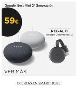 Google Chromecast V3 de regalo al comprar altavoz inteligente Nest Mini