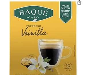 BAQUÉ CAFÉ - Vainilla 10 Cápsulas Compatibles con Dolce Gusto