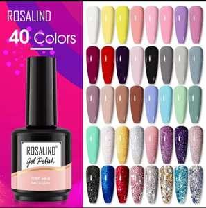 2 x Gel de esmalte de uñas 15ml 40 colores