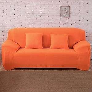 Funda elástica impermeable para sofá (90 x 140 cm), color naranja