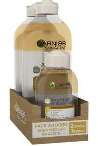 Pack 2x400ml +1 x100ml Garnier Skin Active Agua Micelar en Aceite