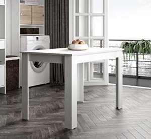 Mesa para comedor (110 x 70 x 73,4 cm), color blanco