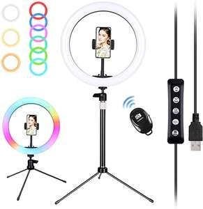 Anillo LED con trípode 24-40cm por solo 9,9€ / Trípode 160cm por 12,99€