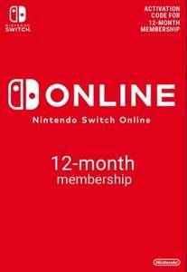 Suscripción Nintendo Switch Online 1 año por 14€