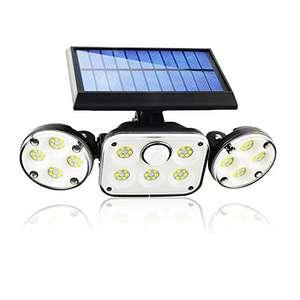Foco LED con batería solar y sensor de movimiento