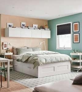 Canapé con almacenaje estructura de cama 160x200 Brimnes blanco Ikea. El de 140x200 a 129€