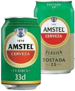 Cerveza Amstel Clásica o Clásica Tostada 33cl