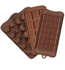 4 piezas de molde de silicona para chocolate