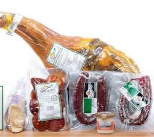 Paleta gran seleccion Extremadura + chorizo y salchichón + puntas de lomo + crema de queso y panecillos