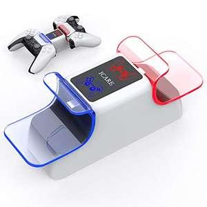 ICARE PS5 Cargador, Estación de Carga USB ps5 con LED Indicador