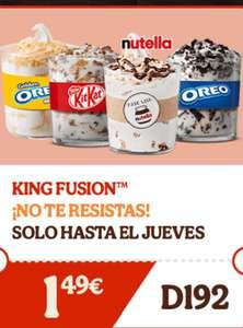 King Fusión a 1,49€ en Burger king