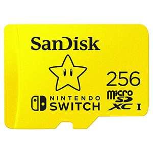 SanDisk microSDXC Nintendo Switch 256B por 30,79 € // 128 GB por 17,49 € // 64 GB por 10,49 €