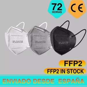 50 mascarillas KN95 FFP2 certificado CE [desde España, aplicar cupón]