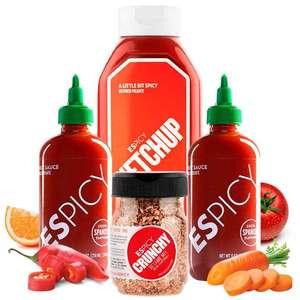 Pack Crunchy 4 salsas ESPICY (envío gratis)
