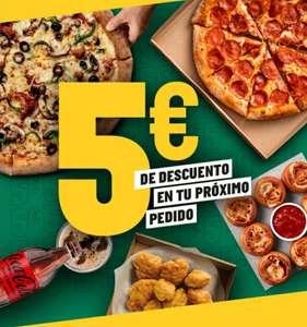 5€ de descuento en tu pedido en Papa John's (mínimo 20€)