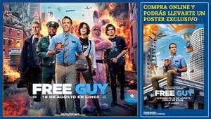 Poster gratis de la Pelicula Free Guy comprando la entrada online