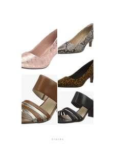 Zapatos Clarks para mujer. Varios modelos y tallas