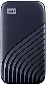 WD My Passport SSD 1TB - tecnología NVMe, USB-C, velocidad de lectura hasta 1050MB/s & de escritura hasta 1000MB/s - Azul medianoche