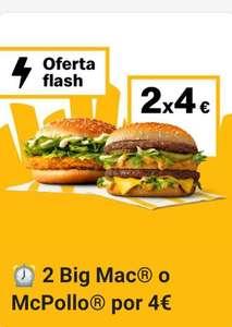 2 Big Mac o 2 McPollo a 4€