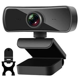 Webcam 2K, Full HD 2560 x 1440 con Micrófono Incorporado y Cubierta de Privacidad, Enfoque Automático, USB 2.0 Plug and Play