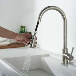 Grifo de cocina extraible monomando 3 modos ahorro de agua 360° [aplicando cupón]