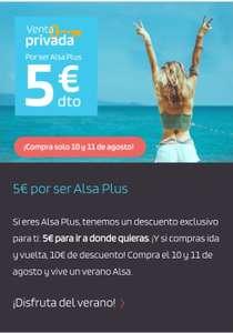 5€ DTO en ALSA, 10€ DTO si es ida y vuelta!