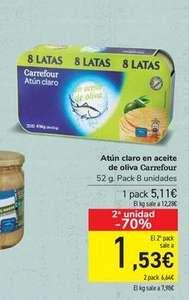Atun en Aceite de Oliva Carrefour 2 Packs