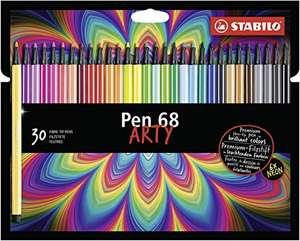 Rotulador premium STABILO Pen 68 ARTY - Estuche con 30 colores