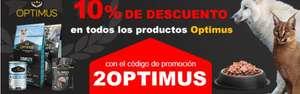 10% Descuento en productos OPTIMUS para perro o gato