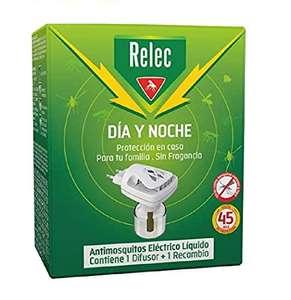 Relec Día y Noche - Difusor y Recambio Antimosquitos Eléctrico Líquido - 45 noches