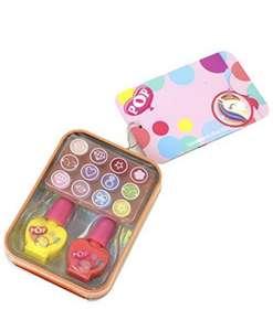 Set de maquillaje para niñ@s 12 brillos de labios y 2 esmaltes de uñas