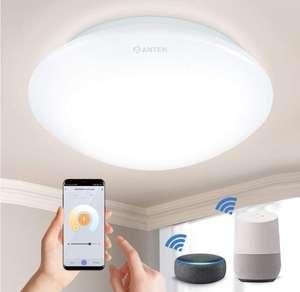 Plafón LED WiFi 24W compatible con Alexa, Google Home, con app y control por voz