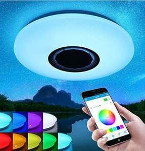 Plafón LED RGB con mando a distancia y altavoz Bluetooth