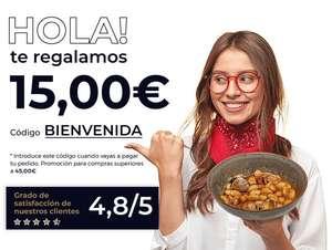 15 € o 20% descuento en Ventum para compras superiores a 45€ (comida casera a domicilio)