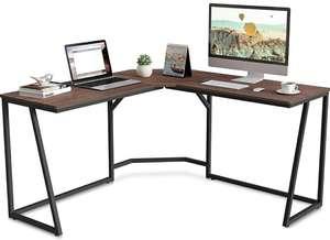 Escritorio esquinero mesa ordenador color nogal 140 * 140 * 75cm
