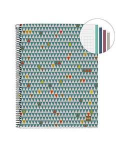 Cuaderno cuadros, A4 100% Reciclado - 4 franjas de color, 120 Hojas