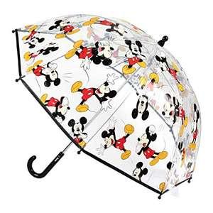 Paraguas Infantiles Transparente de Mickey o Baby Shark