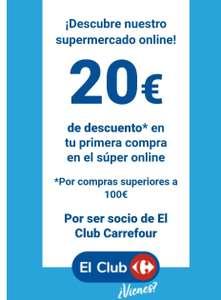 20 euros descuento primera compra online compra mínima 100