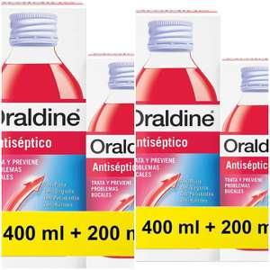2xOraldine Colutorio Antiséptico, 400 Mililitros + 200 Total 1200ml
