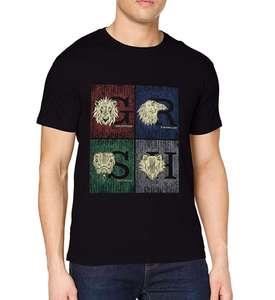 """Camiseta con las cuatro """"casas"""" de Hogwarts (Harry Potter) Talla L a 6,24€."""